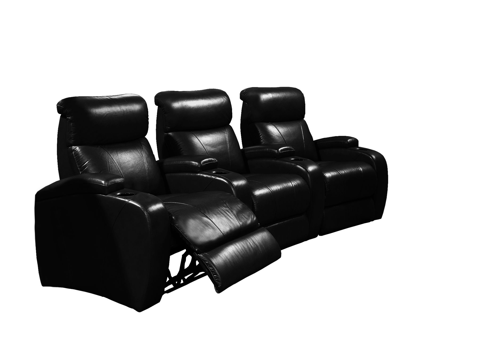 3-SEATER POWER HOME THEATRE - BLACK