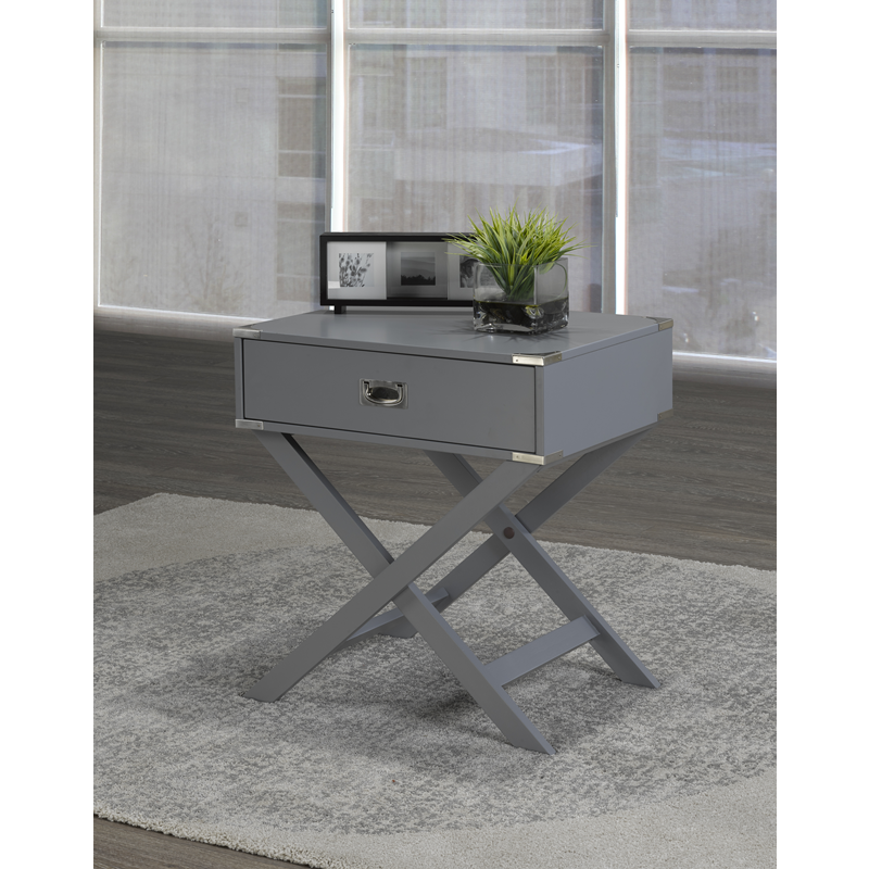 SOHO X-BASE BOX ACCENT TABLE GREY