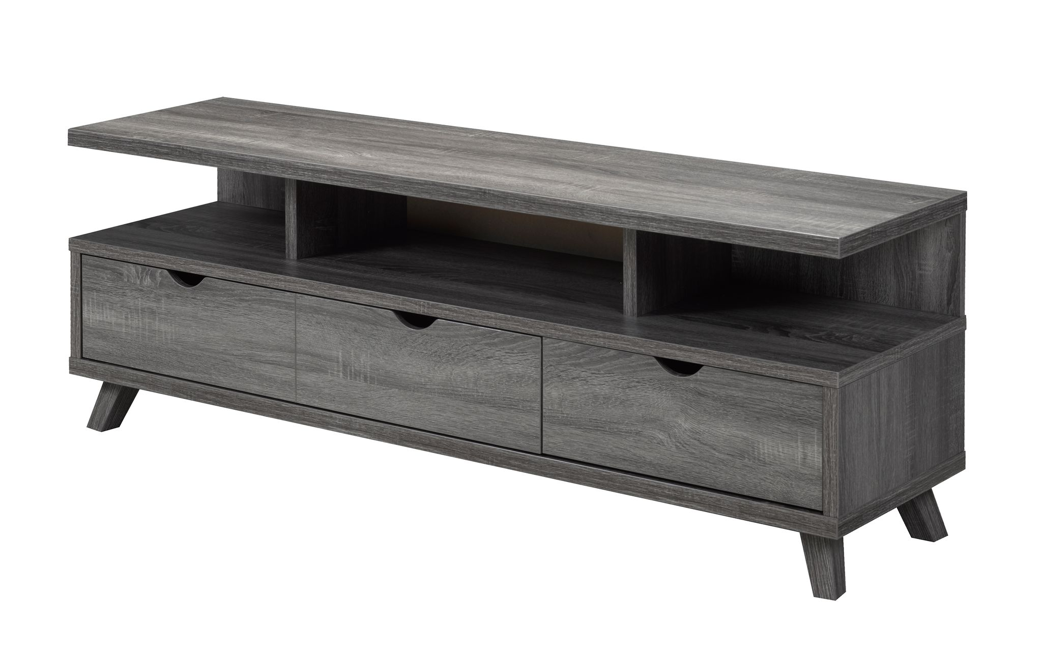 TV STAND DISTRESSED GREY