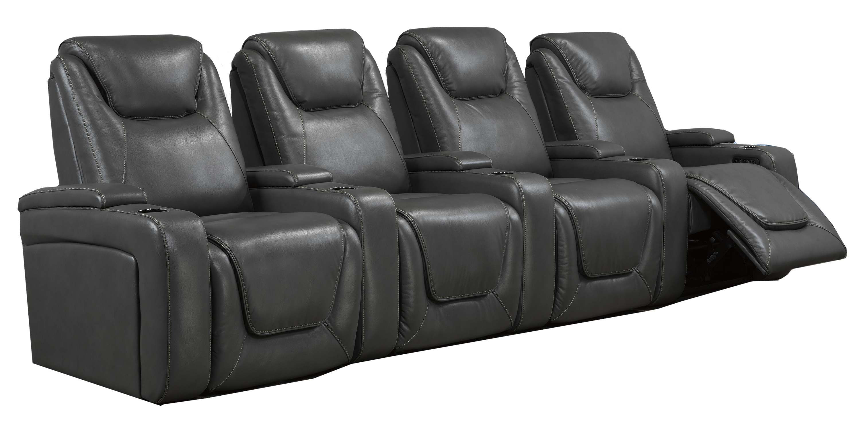 4-SEATER POWER HOME THEATRE - GREY