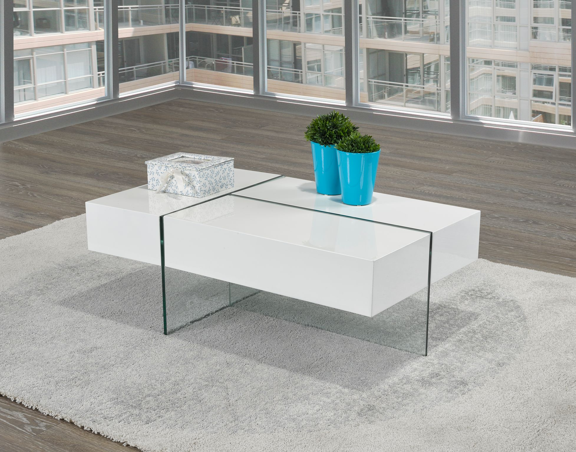 COFFEE TABLE W. SIDE STORAGE