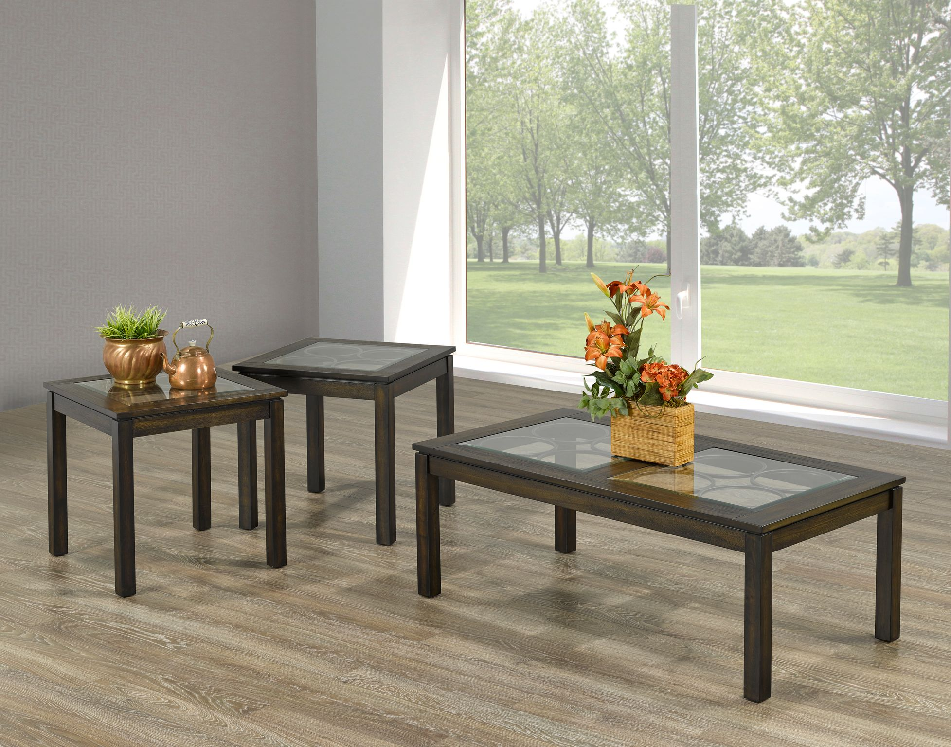 3 PIECE COFFEE TABLE SET - ESPRESSO