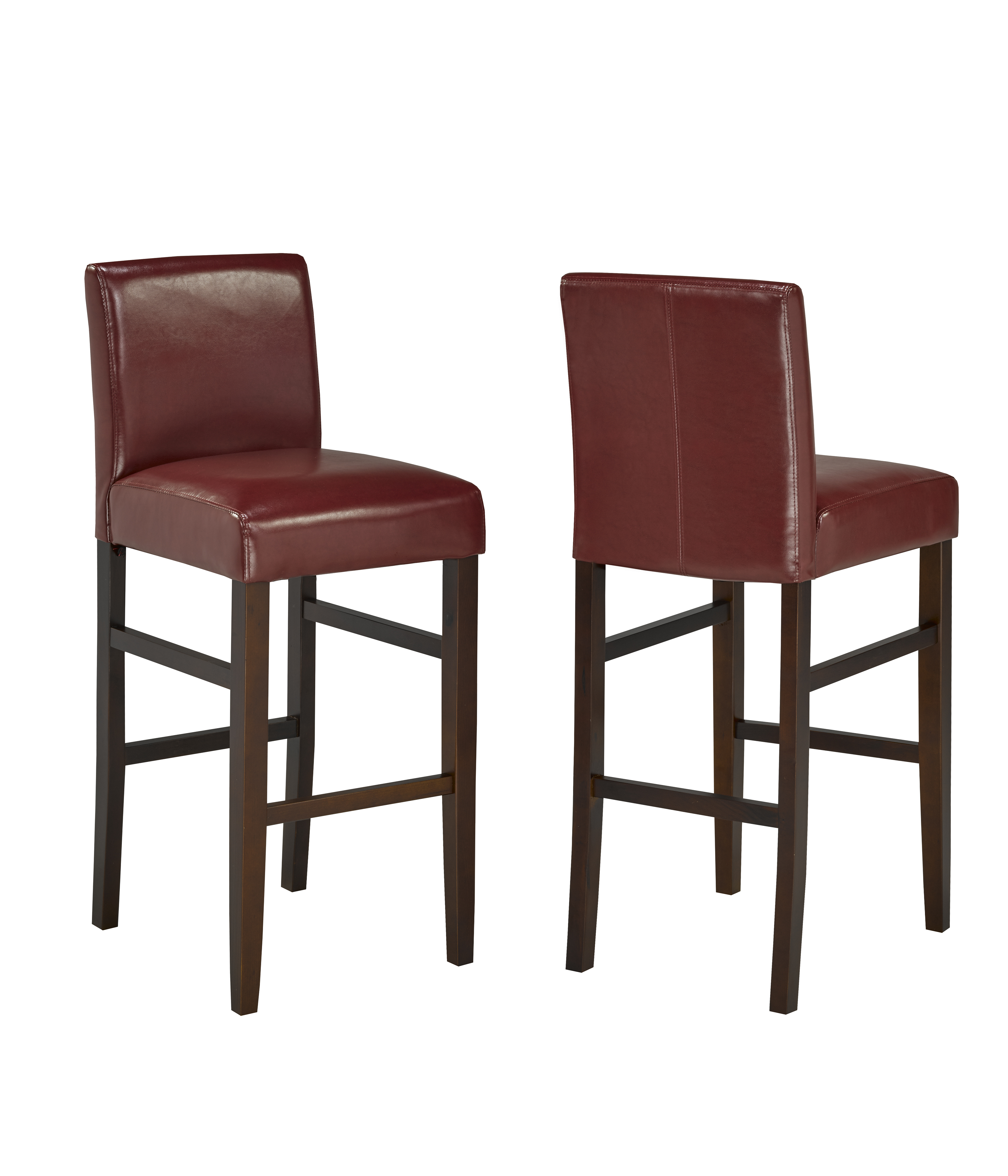 BARSTOOL, SET OF 2 - RED