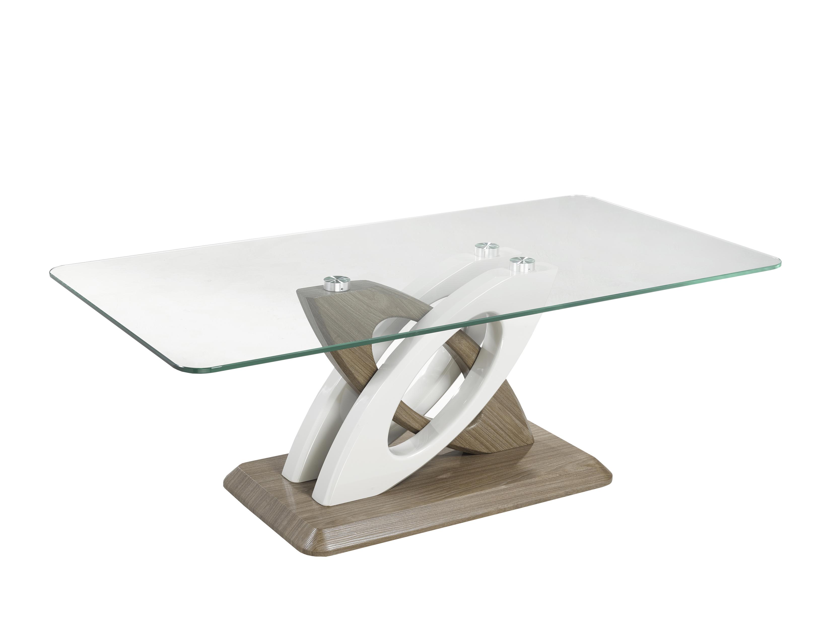 COFFEE TABLE - WHITE/WALNUT