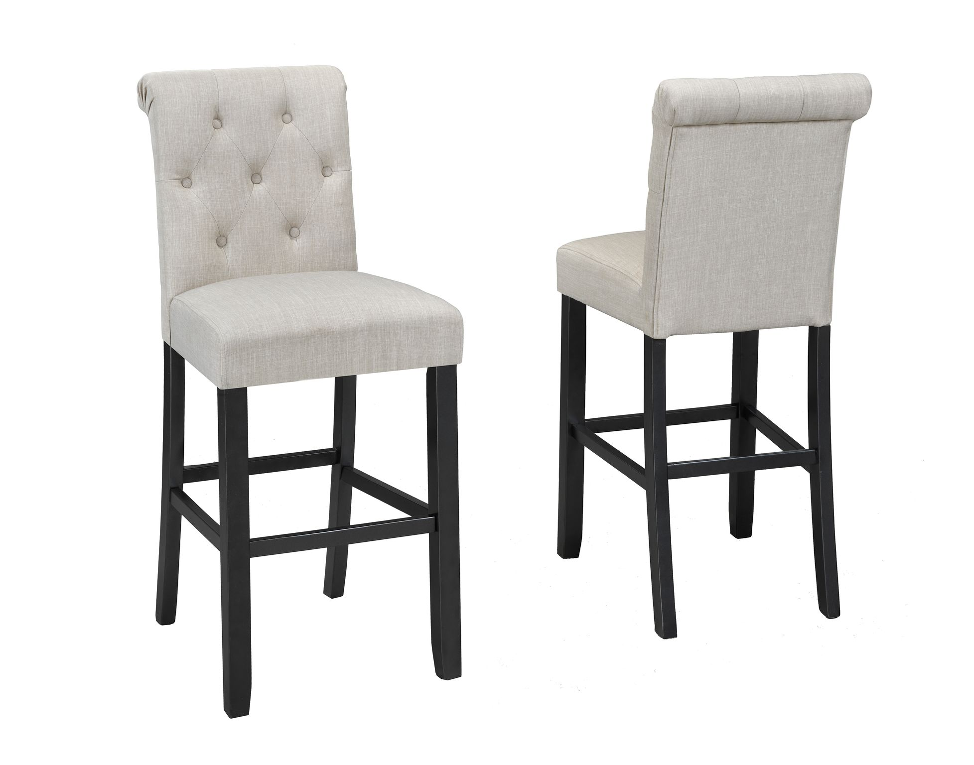 TINGA 29'' BARSTOOL W/BEIGE FABRIC (BAR STOOL SET OF 2 )