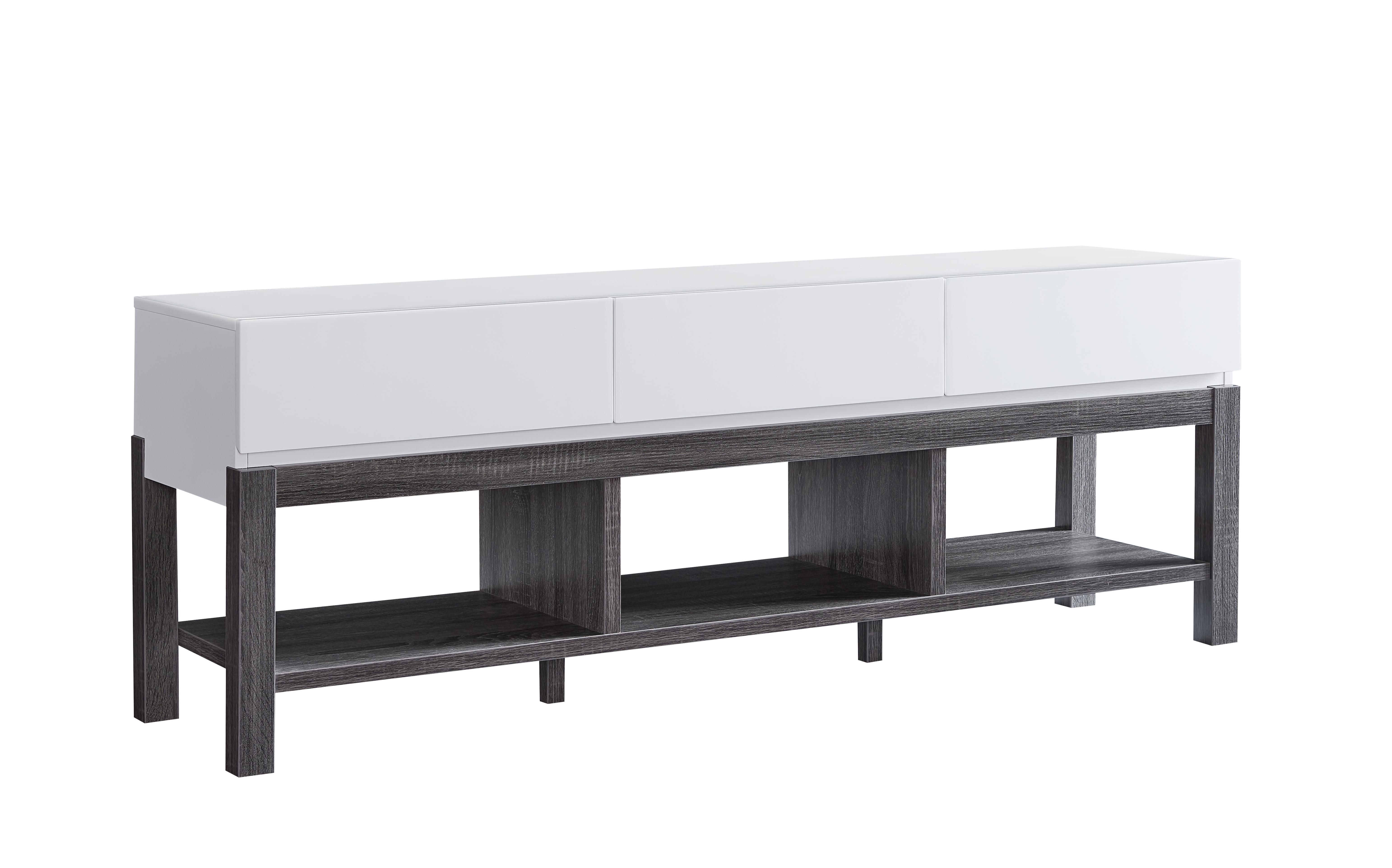 60'' TV STAND - WHITE/GREY