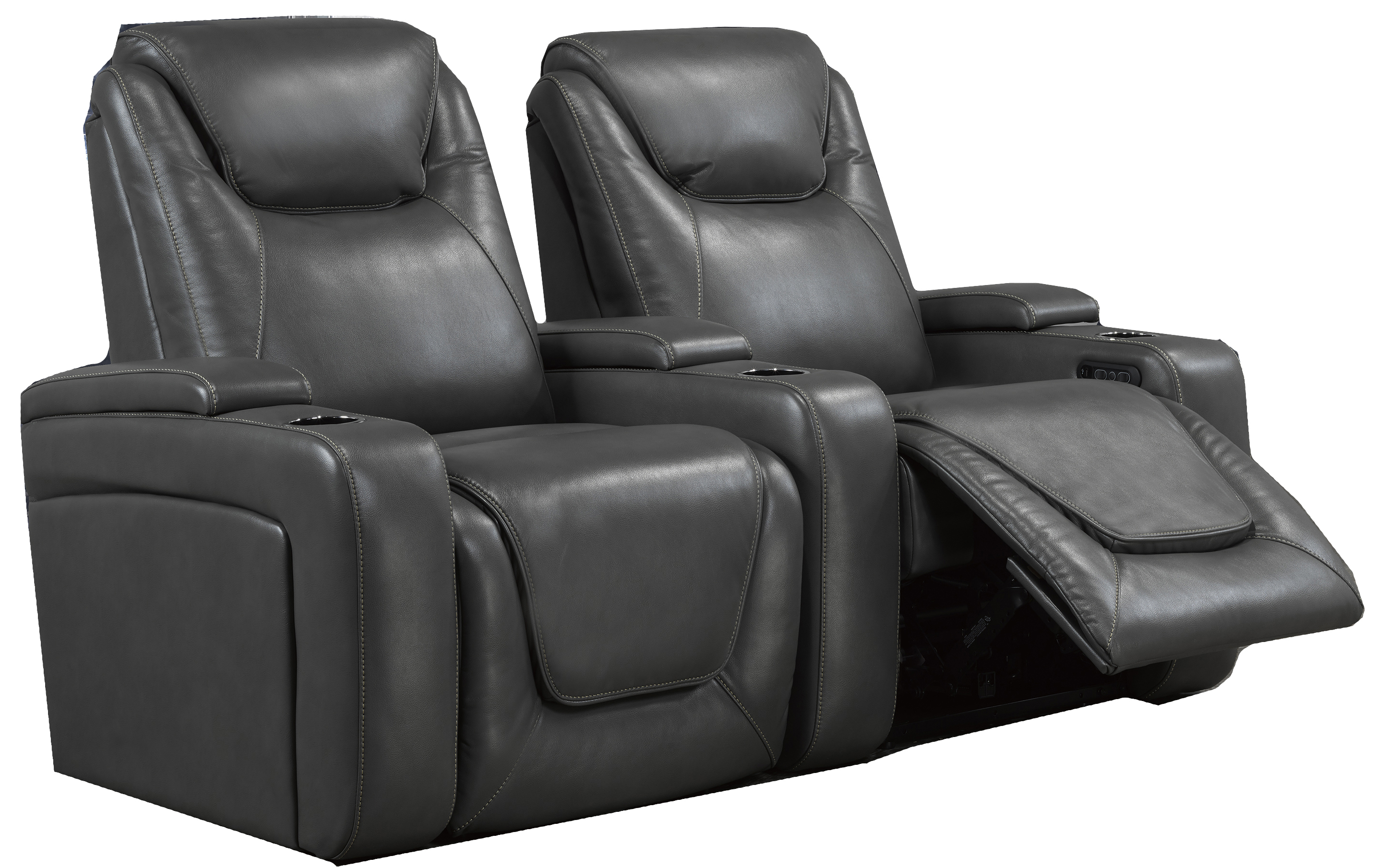 2-SEATER POWER HOME THEATRE - GREY