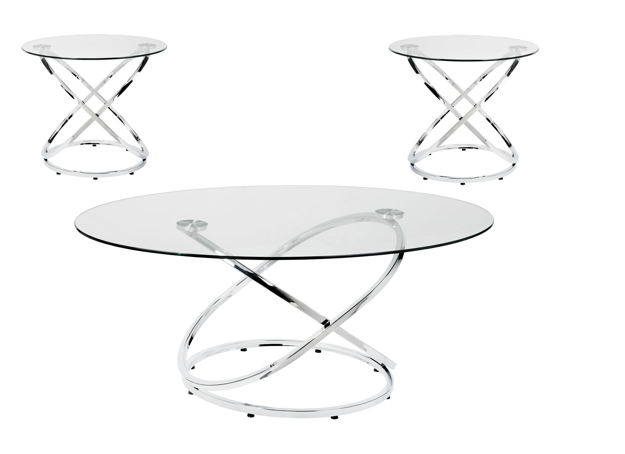3- PIECE COFFEE SET, SILVER