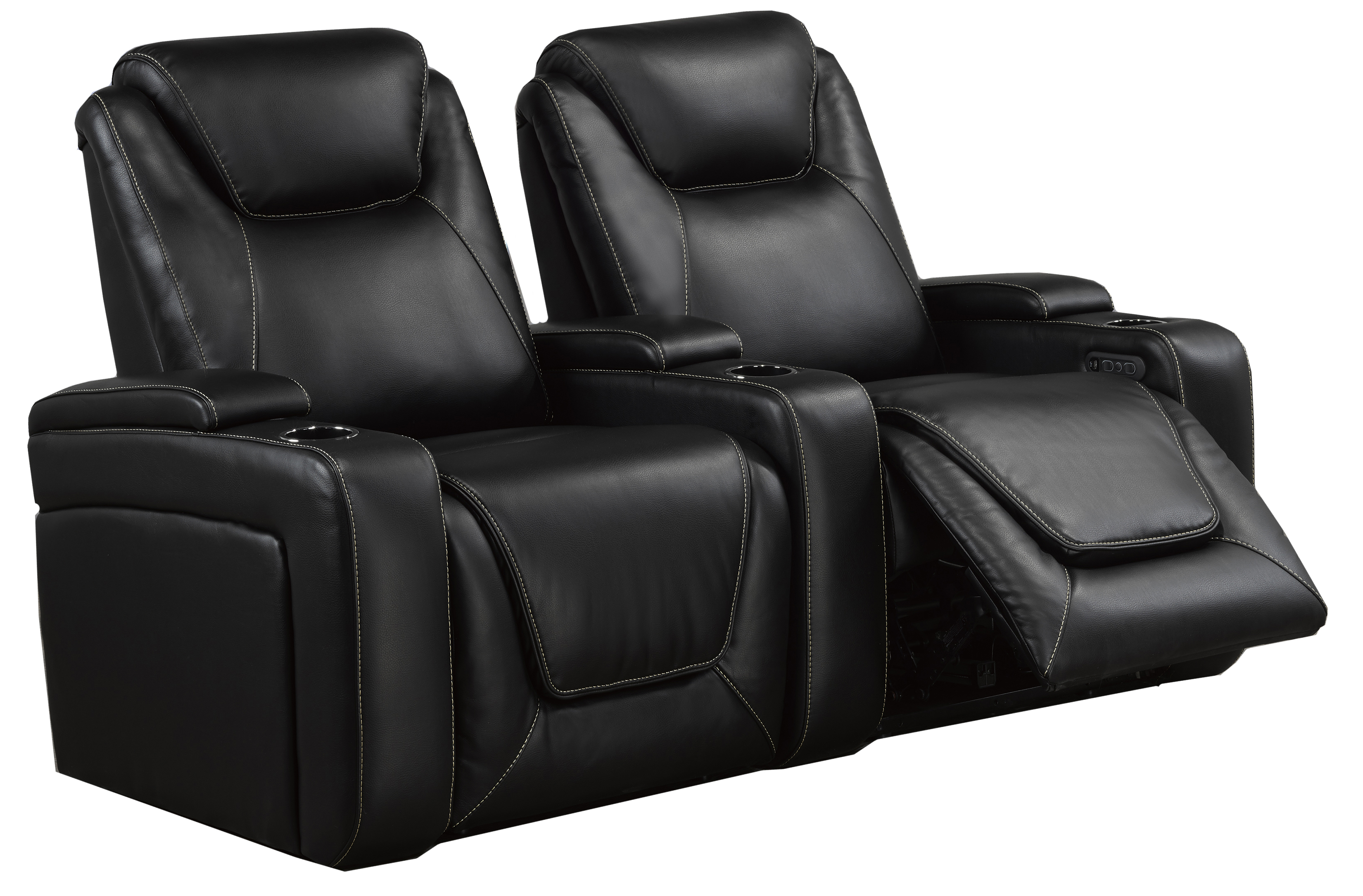 2-SEATER POWER HOME THEATRE - BLACK
