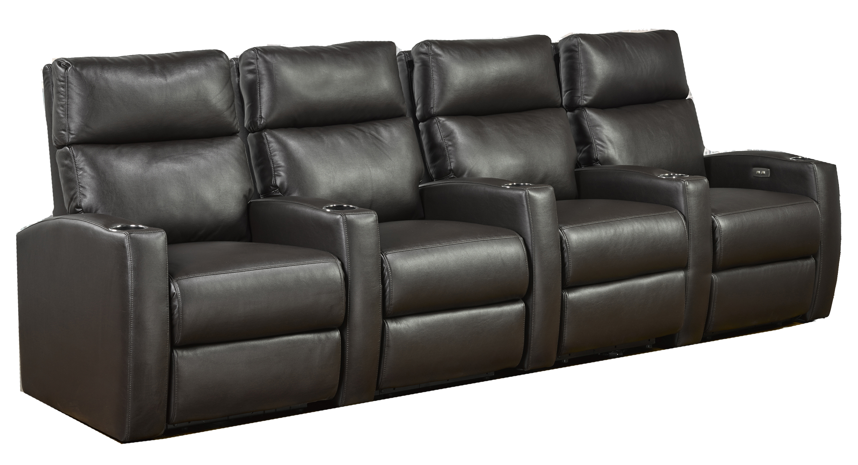 4-SEATER POWER HOME THEATRE - ESPRESSO