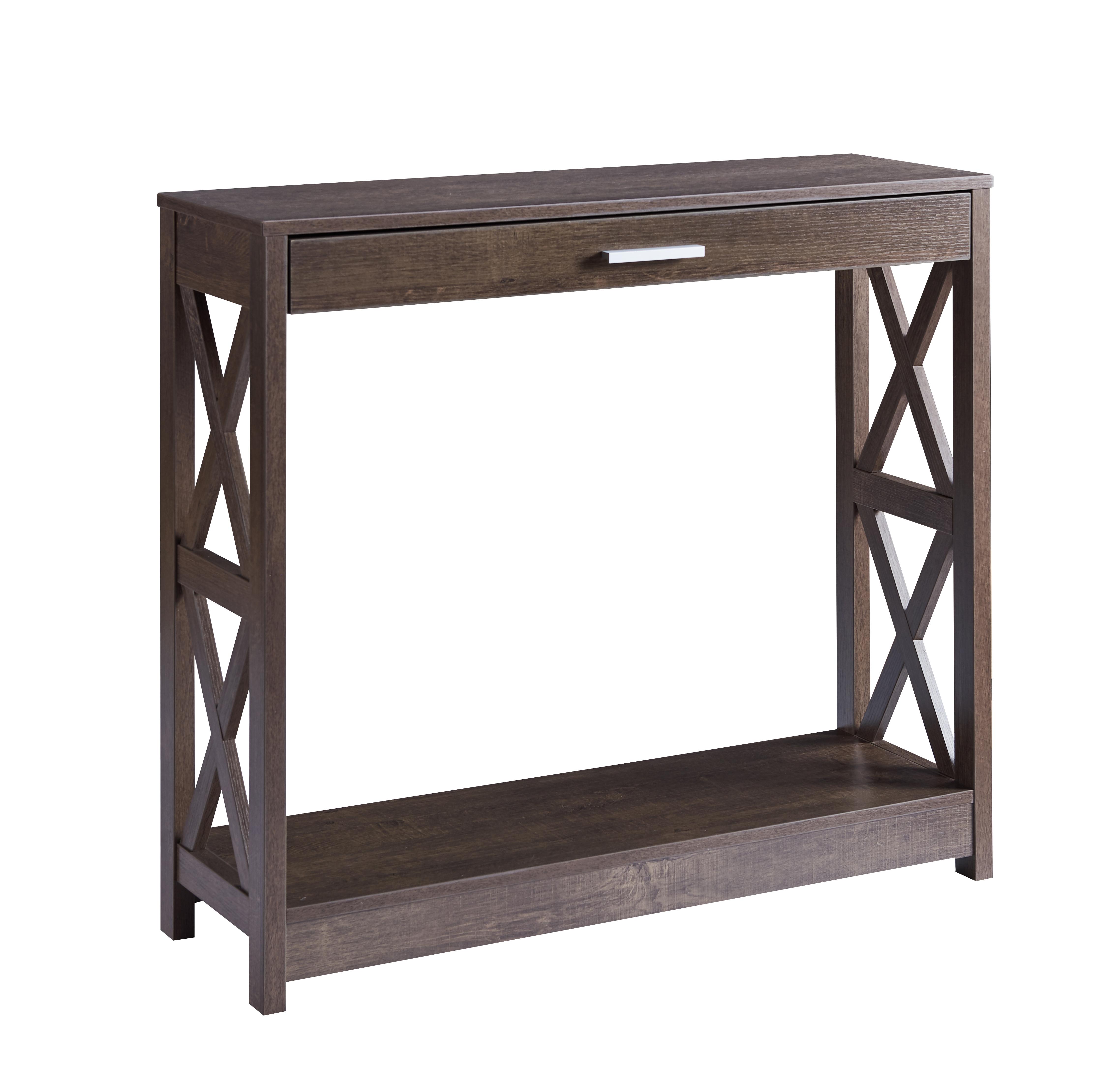 CONSOLE TABLE - WALNUT OAK