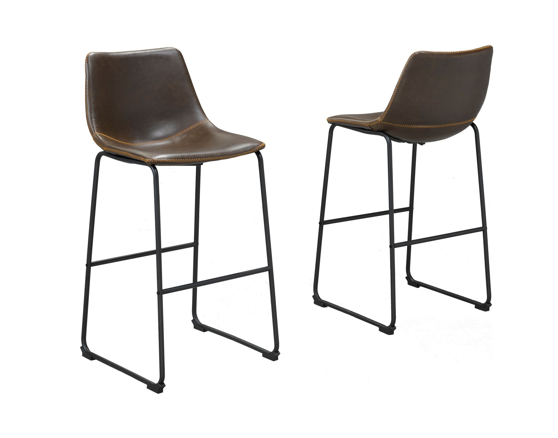 ACASIA VINTAGE BROWN 29' BAR CHAIR (BAR STOOL SET OF 2 )