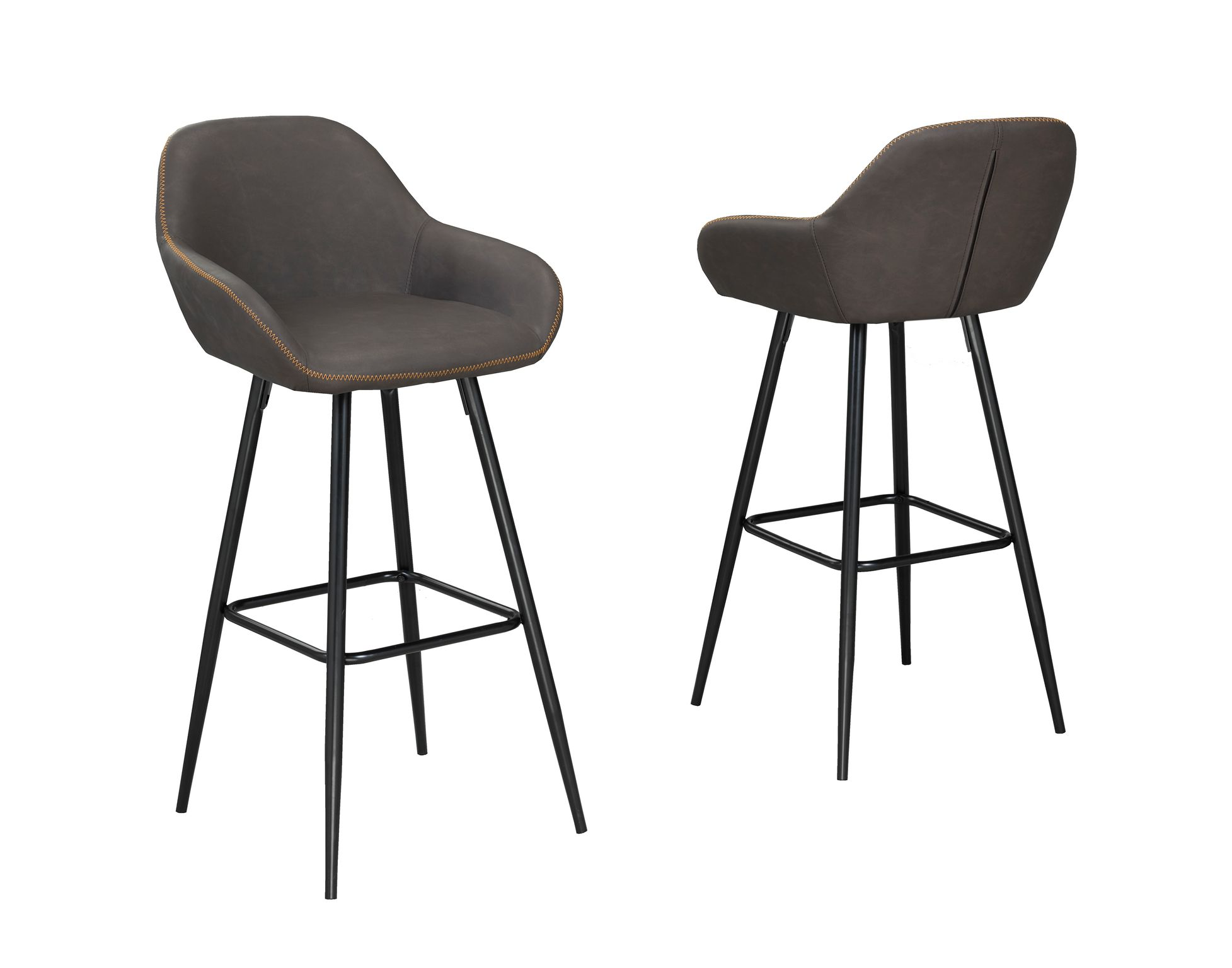 ALEXIS VINTAGE BROWN 26'BAR CHAIR (BAR STOOL SET OF 2 )