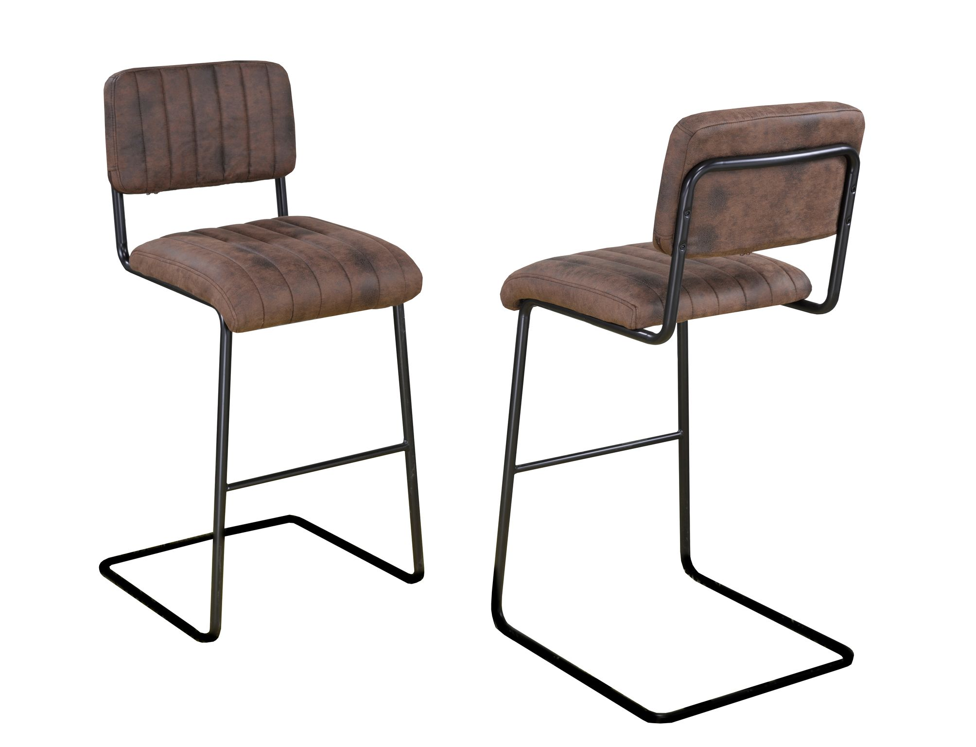 COUNTER STOOL SET OF 2, BROWN