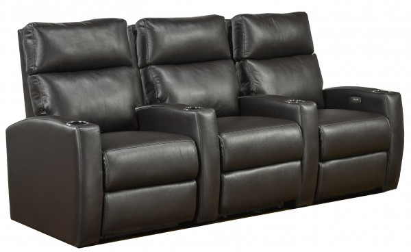 3-SEATER POWER HOME THEATRE - ESPRESSO
