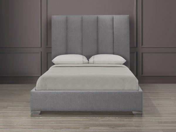 QUEEN PLATFORM BED, GREY
