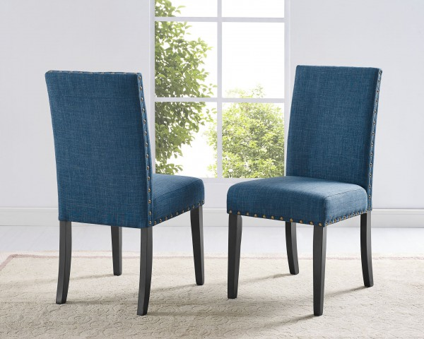 AVERY SIDE CHAIR BLUE (DINING CHAIR SET OF 2 )