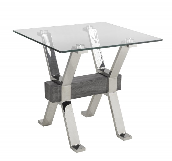 END TABLE - GREY/SILVER