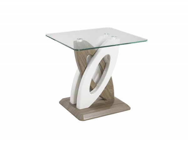 END TABLE - WHITE/WALNUT