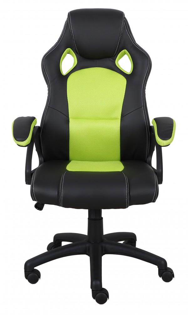 OFFICE CHAIR - BLACK/GREEN