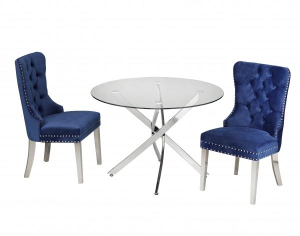 3 PIECE DINING SET - BLUE