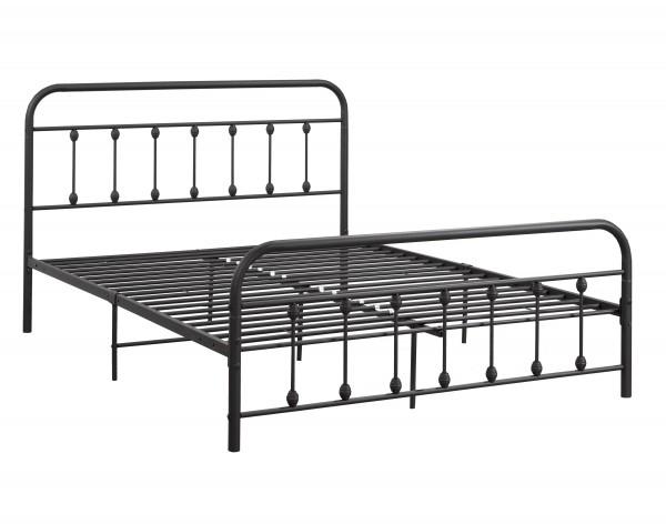 QUEEN PLATFORM BED BLACK