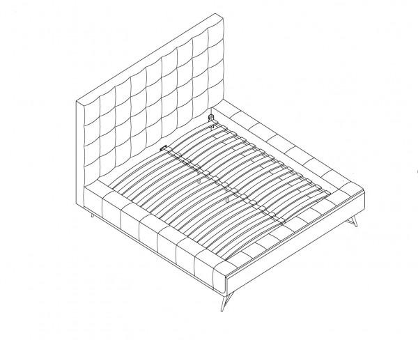 QUEEN PLATFORM BED - BEIGE