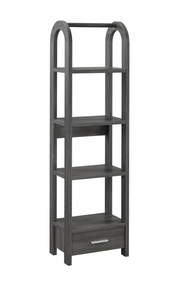 DISPLAY SHELF - GREY