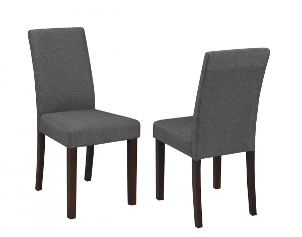 PU GREY CHAIR (DINING CHAIR SET OF 2 )