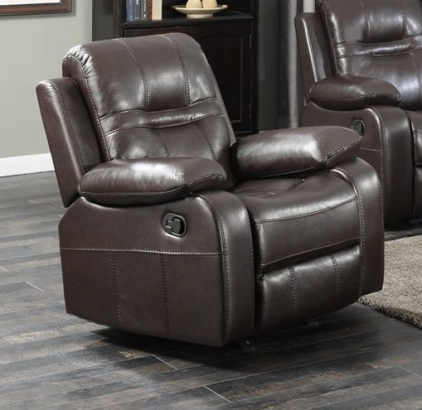 NAPOLEON CHOCLATE ROCKER RECLINER CHAIR
