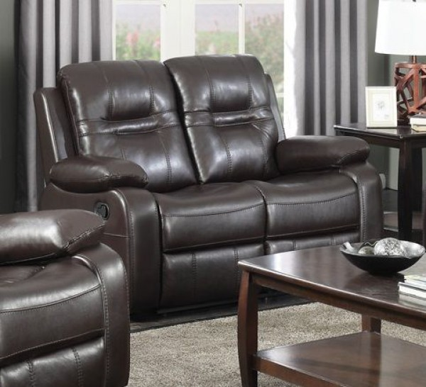 NAPOLEON CHOCLATE RECLINER LOVESEAT