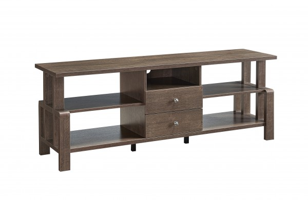 60'' TV STAND - WALNUT OAK