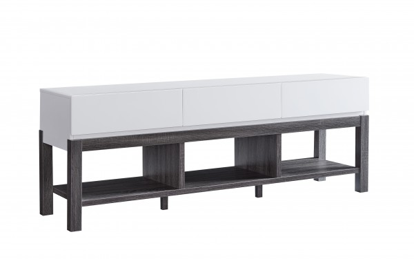 60'' TV STAND - WHITE/GREY