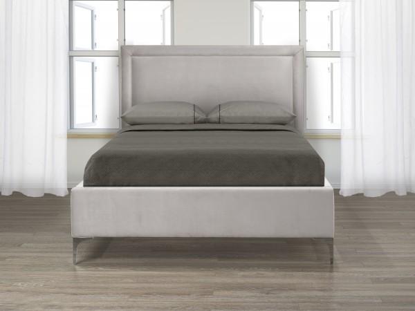 FULL PLATFORM BED - LAVENDER GREY VELVET