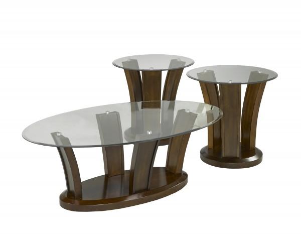 3-PIECE COFFEE TABLE SET - WALNUT