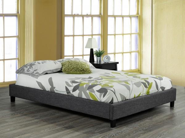 TWIN PLATFORM BED FRAME - GREY