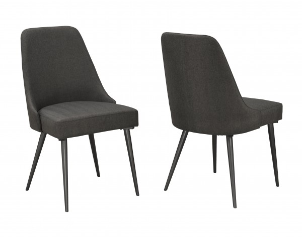 CELINE DINING CHAIR GREY (DINING CHAIR SET OF 2 )