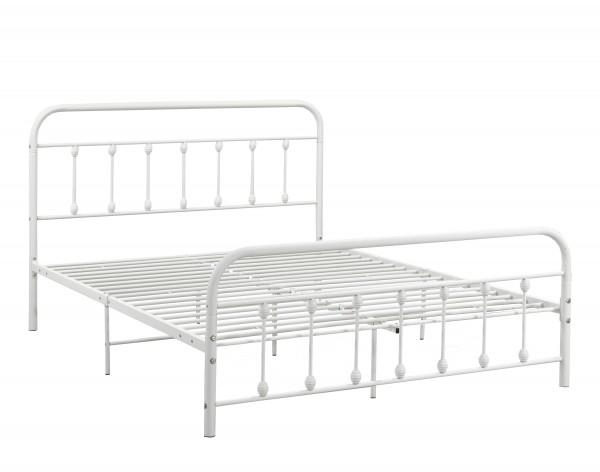 FULL PLATFORM BED WHITE