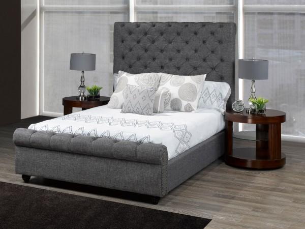 RALEIGH PLATFORM QUEEN BED (GREY)