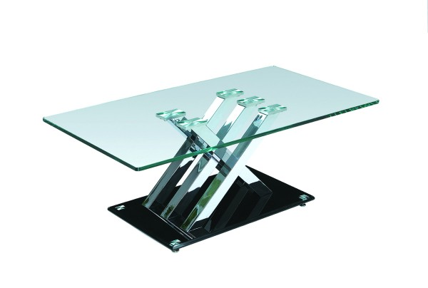 COFFEE TABLE - SILVER/BLACK