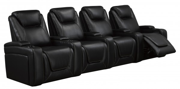 4-SEATER POWER HOME THEATRE - BLACK