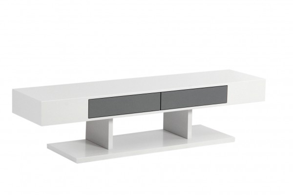 59'' TV STAND - WHITE/GREY