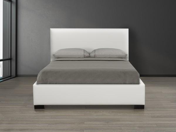 KING PLATFORM BED, WHITE