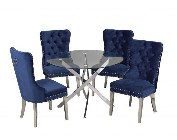 5 PIECE DINING SET - BLUE