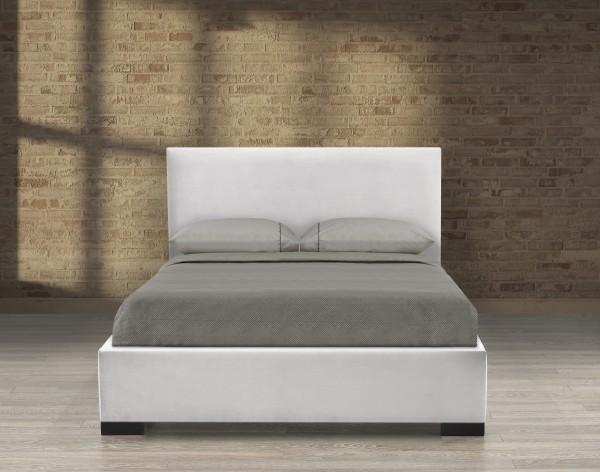 QUEEN PLATFORM BED - GREY VELVET