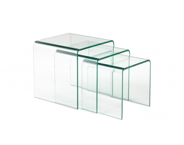 NESTING TABLES - CLEAR GLASS