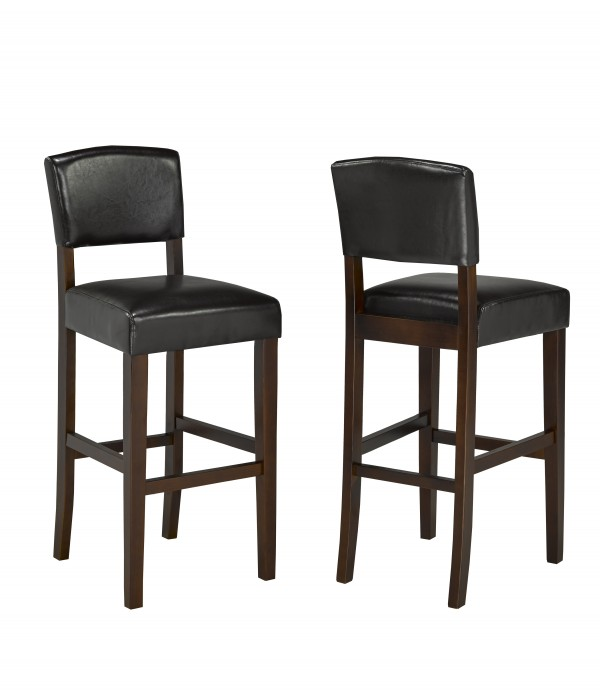COUNTER STOOL, SET OF 2 - BROWN