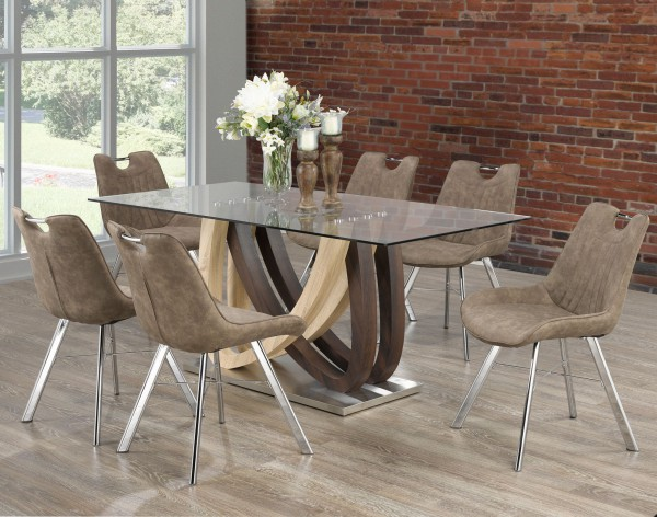 Noah 7-Piece Dining Set, Brown