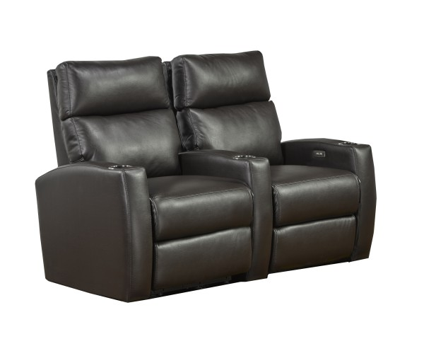 2-SEATER POWER HOME THEATRE - ESPRESSO