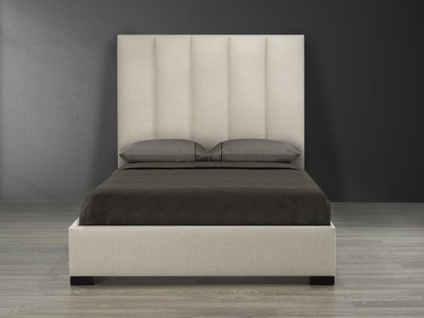 QUEEN PLATFORM BED, BEIGE